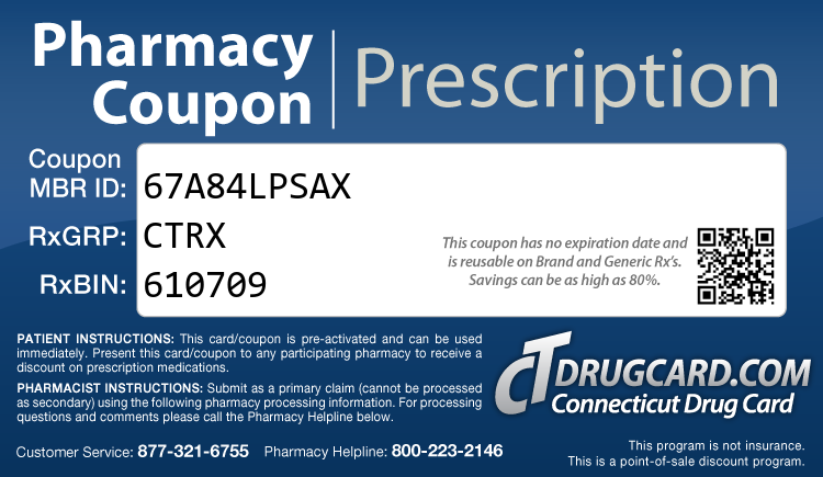 Connecticut Rx Card - Free Prescription Drug Coupon Card